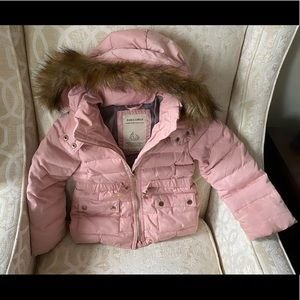Zara kids size 5 winter down jacket